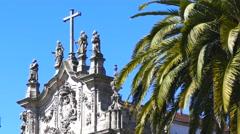 Carmelitas church in Porto Portugal Stock Footage