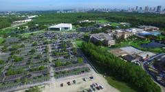 Aerial video of Florida International university 4 Stock Footage