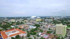 Aerial video Marlins Stadium 2 Stock Footage