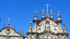 Carmelitas church in Porto Portugal Stock Footage