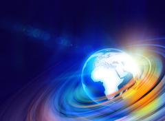 Stock Illustration of Graphical Digital World background3