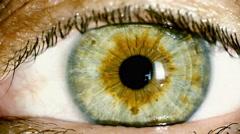 4K female green eye macro,iris contracts - stock footage