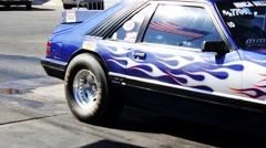 Blue Fox Body Mustang Stock Footage