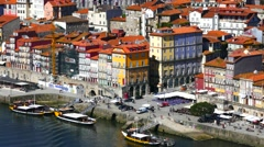 Porto Portugal cityscape Stock Footage