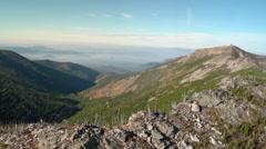 Aerial View: Mountain Ridge line Stock Footage