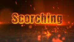 Scorching - Fiery Sparks Logo Revealer - stock after effects