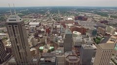 Aerial Indiana Indianapolis Arkistovideo