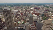 Aerial Indiana Indianapolis - stock footage