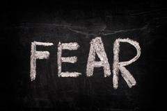 Word Fear on a blackboard - stock photo