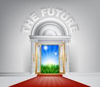 The Future Door Concept - stock illustration