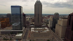 Aerial Indiana Indianapolis Stock Footage