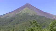 Siau Island volcano Stock Footage