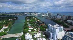 Allison Island Miami Beach aerial video Stock Footage