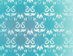 Blue background with lace Stock Illustration