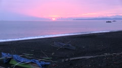 Sunrise over Sea of Celebes 1 Stock Footage
