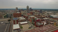 Stock Video Footage of Aerial Indiana Indianapolis