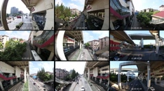 Native color CCTV security monitor in Fisheye look - stock footage
