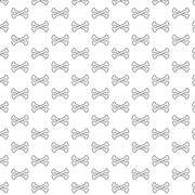 Stock Illustration of Bones pattern black and white