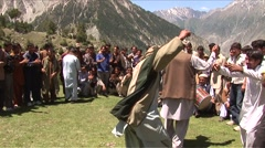Men dancing in Taisot Festival Stock Footage