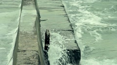 Sea waves, storm - stock footage