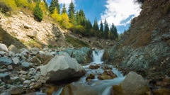Time lapse clip. River in mountain valle. Tien Shan, Asia, Kazakhstan. Stock Footage