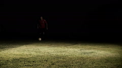 Foul In Soccer Game Slow Motion Stock Footage