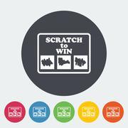 Scratch card - stock illustration