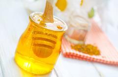 Pollen and honey Stock Photos