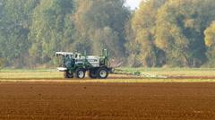 Crop sprayer reversing. - stock footage