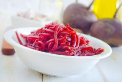 fresh salad with beet - stock photo