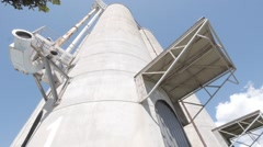 Old bulk Storage Silo - Cement Stock Footage