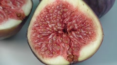 Fresh figs on a white plate Stock Footage
