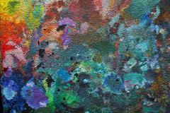 Oil-paint palette Stock Illustration