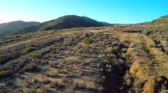 Beautiful aerial shot over the hills of Southern California. Stock Footage