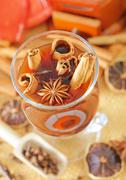 Cocoa and aroma spices - stock photo