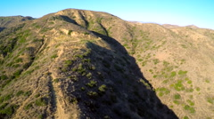 Aerial shot over the hills of Southern California. Stock Footage