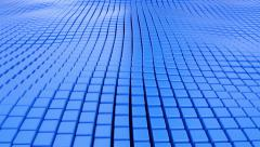 Blue cubic surface in motion. - stock footage