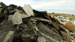 Construction Wastes Dumped In A Huge Pile In Ukraine Stock Footage