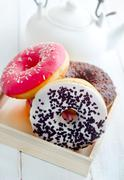 Sweet donuts, different kind from donuts Stock Photos