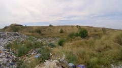 Large Heap Of Wastes At Landfill In Ukraine Stock Footage
