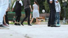 American Dance Education in Europe in the street during the Festival Stock Footage