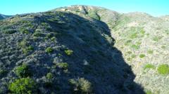 Aerial shot over the historic V on a hillside in Ventura, California. Stock Footage