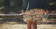Cute young hipster girl walking in isolation - stock footage