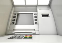 Atm Facade Closeup Stock Illustration
