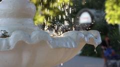 Beautiful sunlit fountain close up - stock footage