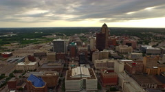 Stock Video Footage of Aerial Iowa Des Moines