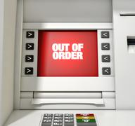 ATM Screen Out Of Order Stock Illustration