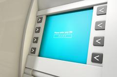 ATM Screen Enter PIN Code - stock illustration