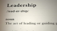 Leadership Definition Stock Footage