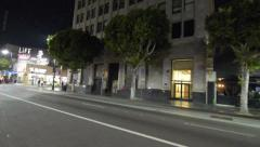 Driving Plates Multi Angle Hollywood Night 04 CAM3 3/4 L Hollywood Highland 60fp Stock Footage